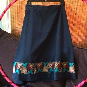 ModCloth Moon midi skirt XL